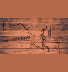 Maryland map brand vector