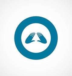 massage bold blue border circle icon vector image
