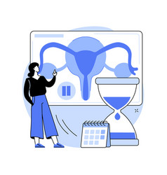 menopause abstract concept vector image