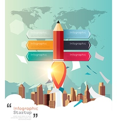Modern infographic for business startup vector image