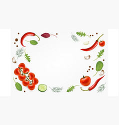 Organic food background and copy space fresh vector