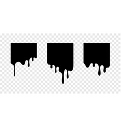 Paint drip stickers square labels vector