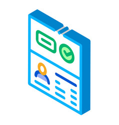 Passport access isometric icon vector