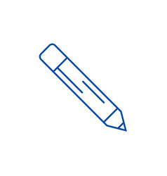 pencil line icon concept pencil flat vector image