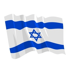 political waving flag of israel vector image