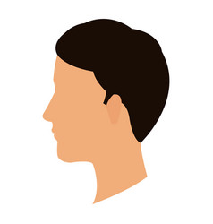Profile head guy young character vector
