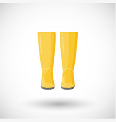 Rain boots pair flat icon vector