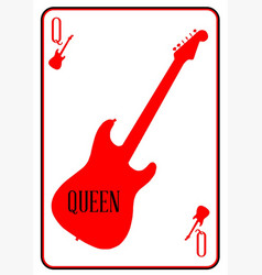 Red curvy guitar queen vector