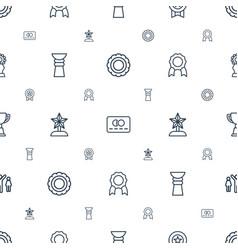 Reward icons pattern seamless white background vector