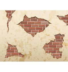 Set old shabconcrete and brick cracks vector