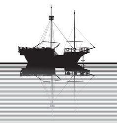 Ship silhouette vector