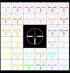 sight sign felt-pen 33 vector image