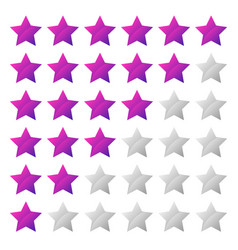 Simple star rating system with 6 star shape vector