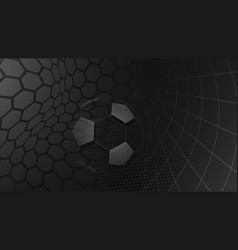Soccer background in black colors vector