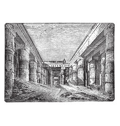 temple of chesnu at karnak ancient vintage vector image