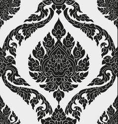 Thai pattern design vector
