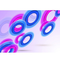 Transparent background with colorful rings vector