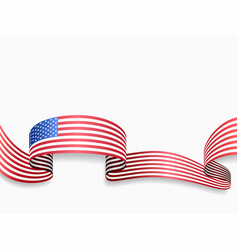 usa flag wavy abstract background vector image