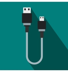 USB cable icon flat style vector