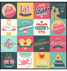 valentine set3 vector image