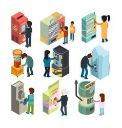 vending machine isometric snack sandwich ice vector image