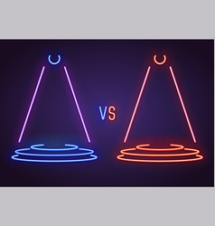 Versus neon sign vector