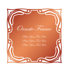 Vintage decorative label elegant ornamental frame vector
