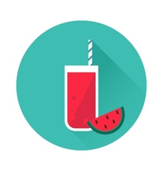 Watermelon juice icon vector image