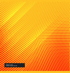 Yellow background with circular halftone effect vector