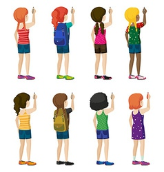 Faceless kids with fashionable attires vector image vector image