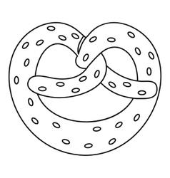 Pretzel icon outline style vector image