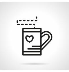 Simple line tea cup icon vector image vector image