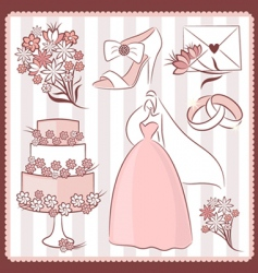wedding design elements vector image