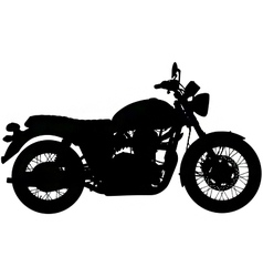 classic motorbike silhouette vector image