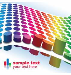 colorful graphs vector image vector image