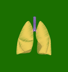 flat shading style icon lungs and trachea vector image