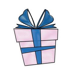gift box christmas present bow ribbon decoratio vector image vector image