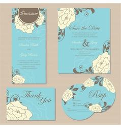 wedding set copy vector image