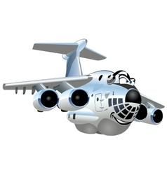 Cartoon Cargo Airplane vector image vector image