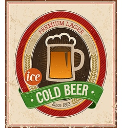cold beer color vector image vector image