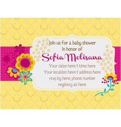 Baby-Shower Bouquet vector image vector image
