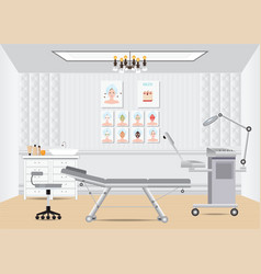 cosmetology beauty salon isometric interior with vector image vector image