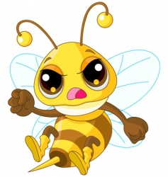 cute angry bee vector image