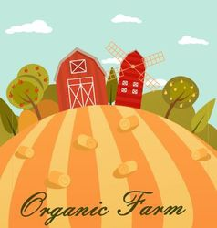 Eco farm flat vector