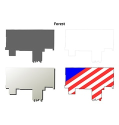 Forest Map Icon Set vector image vector image