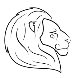 Lion head 2 vector image vector image