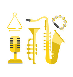 saxophone gold icon music classical sound vector image vector image