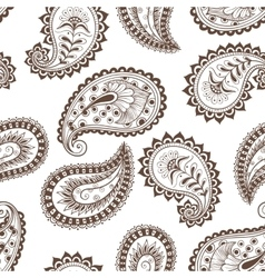 seamless pattern paisley Indian vector image vector image