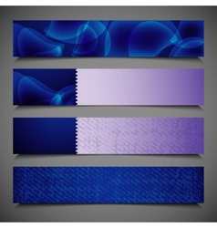set of abstract bright blue banners vector image