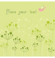 springtime colorful bird flora vector image vector image